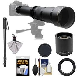 Rokinon 650-1300mm f/8-16 Telephoto Zoom Lens with 2x Teleco