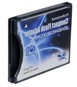 SD/SDHC/MMC/Eye-Fi card to Compact Flash CF Type II Adapter