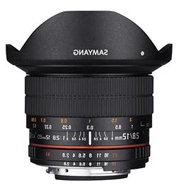 Samyang 12mm F2.8 Ultra Wide Fisheye Lens for Canon EOS EF D