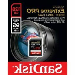 SanDisk Extreme PRO 128GB up to 95MB/s UHS-I/U3 SDXC Flash M