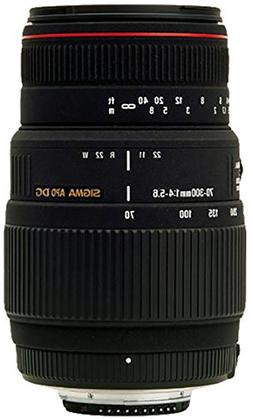 Sigma 70-300mm f/4-5.6 DG APO Macro Telephoto Zoom Lens for