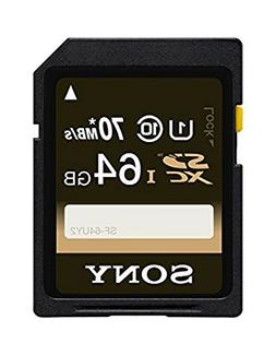 Sony 64GB Class 10 UHS-1 SDXC up to 70MB/s Memory Card