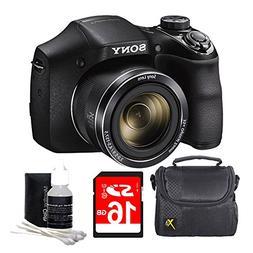 Sony DSCH300/B Digital Camera  Bundle with High Speed 8GB Ca