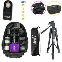 TRIPOD BACKPACK BAG + REMOTE KIT FOR NIKON D5500 D5300 D3400