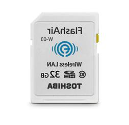 Toshiba 32GB FlashAir III Wireless SD Memory Card, White,