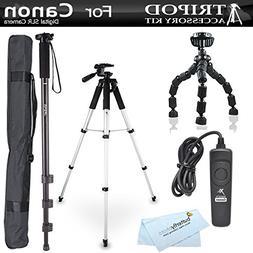 Tripod Kit For Canon EOS 60D, T5i, t5, T4i, T2i, T3i, XS, XS