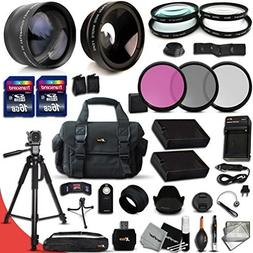 Ultimate 32 Piece Accessory Kit for Nikon D5500 D5300 D5200