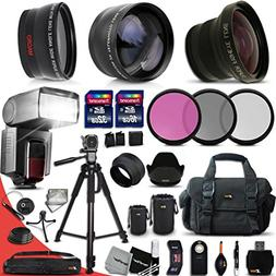 Ultimate 37 Piece Accessory Kit for Canon Mark II EOS 70D 60