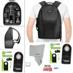 VIVITAR LARGE BACKPACK BAG + REMOTE FOR CANON EOS REBELT1 T2