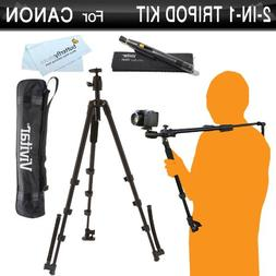 Vivitar 2-In-1 Tripod and Shoulder Stabilizer Kit For Canon