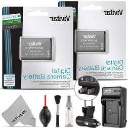 Vivitar 2 Pack EN-EL23 Battery and Charger Kit for Nikon Coo