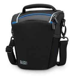 USA Gear SLR/DSLR Camera Case Bag with Top Loading Accessibi
