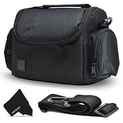 Well Padded Fitted Medium DSLR Camera Case Bag w/ Zippered P