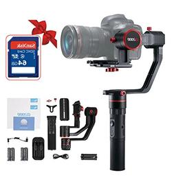 FeiyuTech a2000 3-Axis Gimbal for DSLR Camera, With 64GB SD