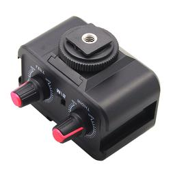 Universal ABS Black Microphone Adapter <font><b>Lightweight<
