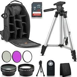 Professional 55MM Accessory Bundle Kit For Nikon D3400 D5600