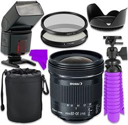 Professional Accessory Kit with Canon EF-S 10-18mm f/4.5-5.6