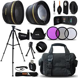 Optimal 21 Piece Accessory Kit for Canon EOS 7D Mark II, 70D