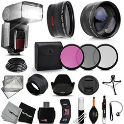 Premium 58mm Accessory Kit for Canon EOS REBEL T6i T6S T5i T