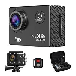Action Camera,4K WiFi Ultra HD Waterproof Sport Camera 2 Inc