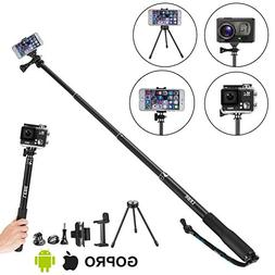 LEBE Adjustable Gopro Selfie Stick with Tripod for Gopro Her