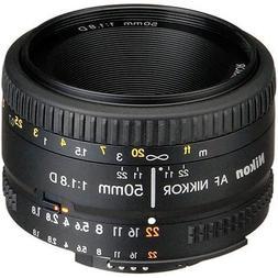 Nikon AF FX NIKKOR 50mm f/1.8D Lens with Auto Focus for Niko