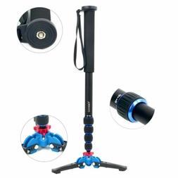 Pro 65-inch Camera Aluminium Monopod W/ Folding Three Feet S