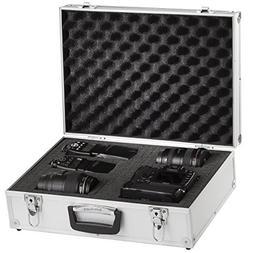 """BRUBAKER Aluminum Dslr Camera Case Foam Padded 18.26"""" X 13.3"""