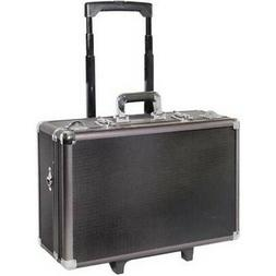 Aluminum Metal Carrying Hard Case Travel Briefcase w/Wheels