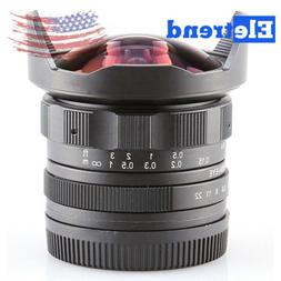 APS-C CL-Mil7528N 7.5mm F2.8 Fish-eye Wide Angle Lens For Ca