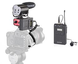 "Movo Audio""Gig"" Bundle with UHF Lavalier Microphone System,"
