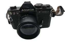 Konica Autoreflex T3 SLR Film Camera Body, Black W/ 28mm F 3