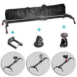 Fomito 80cm 32 inch Ball Bearing Video Camera Slider Video S