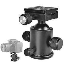 UTEBIT Ball Head 36mm Tripod Ball Heads with 50mm Quick Rele