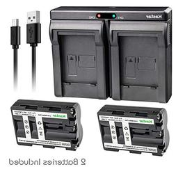 Kastar 2X Battery + USB Dual Charger for Sony NP-FM500H Sony