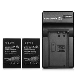 Powerextra 2x EN-EL20a Battery & Car Charger Compatible with