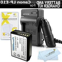 Battery And Charger Kit For Canon EOS Rebel T5, T3, EOS Rebe