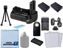 Battery Grip for Nikon D5300 DSLR Camera + 2 EN-EL14 Long Li