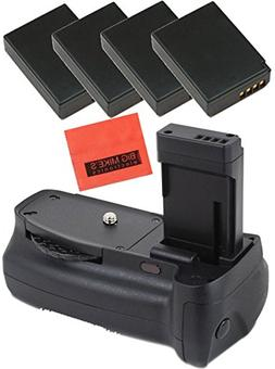 Battery Grip Kit for Canon EOS Rebel T3, T5, T6, Kiss X50, K