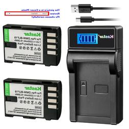 Kastar Battery LCD Charger for  Panasonic DMW-BLF19 & Panaso