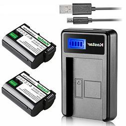 Kastar Battery  & LCD Slim Charger for Nikon EN-EL15, ENEL15