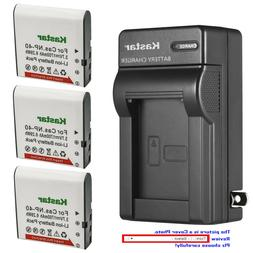 Kastar Battery Wall Charger for Casio NP-40 & Casio Exilim Z