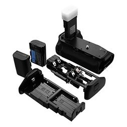 Powerextra BG-E14 Battery Grip + 2-Pack High Capacity 2600mA