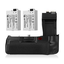 Powerextra BG-E8 Battery Grip + 2-Pack High Capacity 1800mAh