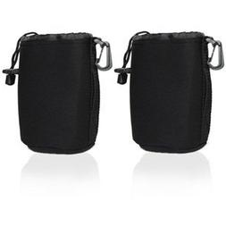 Cosmos 2 PCS Black Small DSLR camera Drawstring Soft Neopren