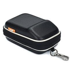 Black EVA Shock Resistant Compact Digital Camera Case For CA