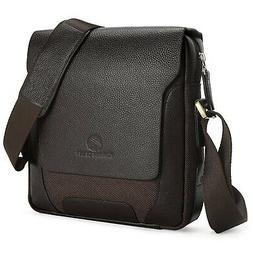 - Koolertron Man Shoulder Bag, 100% Leather Soft Natural Le