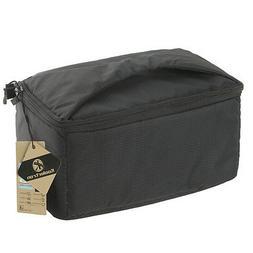 Black Shockproof DSLR SLR Camera Case Bag Partition Padded I