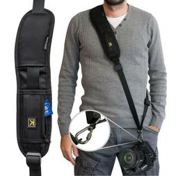 Black Single Shoulder Sling Belt Strap for DSLR Digital SLR