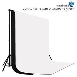 LimoStudio 10 ft X 12 ft Black & White Chromakey Photo Video